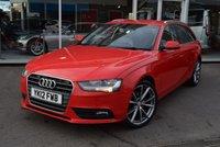 2012 AUDI A4 2.0 AVANT TDI SE TECHNIK 5d 141 BHP £9990.00