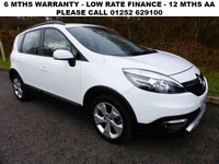 USED 2015 65 RENAULT SCENIC 1.5 XMOD DYNAMIQUE NAV DCI 5d AUTO 110 BHP All retail cars sold are fully prepared and include - Oil & filter service, 6 months warranty, minimum 6 months Mot, 12 months AA breakdown cover, HPI vehicle check assuring you that your new vehicle will have no registered accident claims reported, or any outstanding finance, Government VOSA Mot mileage check.     Because we are an AA approved dealer, all our vehicles come with free AA breakdown cover and a free AA history check. Low rate finance available. Up to 3 years warranty available.