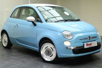 USED 2015 15 FIAT 500 1.2 VINTAGE 57 3d 69 BHP 1 OWNER + VOLARE BLUE SPECIAL PASTEL PAINT + AIR CON