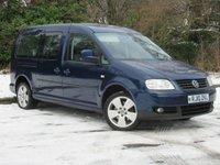 USED 2010 10 VOLKSWAGEN CADDY MAXI 1.9 LIFE TDI DSG 5d AUTOMATIC * 7 SEATS * AUTOMATIC *