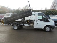 2012 FORD TRANSIT 2.2 350 DRW  TIPPER SINGLE CAB STEEL TIPPING BODY  ROOF FLASHING BEACON TOW BAR    !!! NO VAT !!!    £SOLD