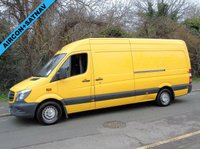 2013 MERCEDES-BENZ SPRINTER 2.1 313 CDI 129 BHP LWB HIGH ROOF PANEL VAN (WALK THROUGH) £8250.00