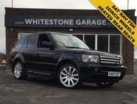 USED 2007 07 LAND ROVER RANGE ROVER SPORT 3.6 TDV8 SPORT HSE 5d 269 BHP STUNNING CONDITION FSH, 20INCH ALLOYS, HEATED FRONT AND REAR SEATS, SAT NAV, ELECTRIC MEMORY SEATS,