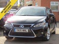 2015 LEXUS CT 1.8 200H ADVANCE 5d AUTO 134 BHP £10750.00