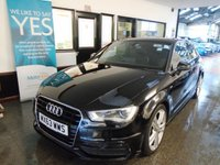 USED 2013 63 AUDI A3 2.0 TDI S LINE 3d 148 BHP Two owners- last lady since 2016. Full service history, October 2019 advisory free Mot. Finished in Metallic Mythos Black with Black half leather seats.