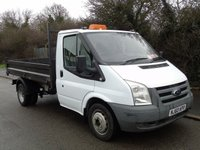 USED 2010 60 FORD TRANSIT T350 2.4TDCI 100 BHP MWB TIPPER +RECENT CLUTCH+NO VAT+