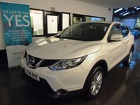 USED 2014 14 NISSAN QASHQAI 1.5 DCI ACENTA SMART VISION 5d 108 BHP Two owners- last gent since 2016. Full service history- 3 stamps, April Mot but supplied with 12 months. Finished in Pearl White with Black cloth seats.