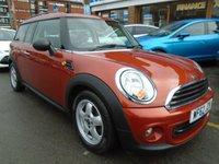 2012 MINI CLUBMAN 1.6 ONE 5d AUTO 98 BHP £7994.00