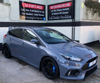 2017 FORD FOCUS RS 2.3 ECOBOOST 5DR 345 BHP, UPGRADED RECAROS, HEATED STEERING WHEEL. £29495.00