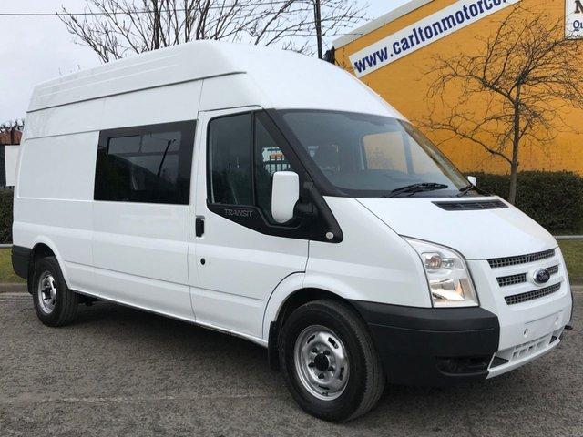 2013 62 FORD TRANSIT 2.2Tdci 125 T350L High Roof 9 seat Crew Cab / Combi / Minibus / Window Van Fwd A/C Low Mileage TDCI 125