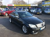 2007 MERCEDES-BENZ C CLASS 2.1 C220 CDI SPORT 4 DOOR AUTOMATIC 168 BHP IN BLACK WITH ONLY 76000 MILES.  £5799.00