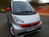 USED 2012 62 SMART FORTWO 1.0 PASSION MHD 2d AUTO 71 BHP ** AUTOMATIC, £0 ROAD TAX , SATNAV, GLASSROOF , AIRCON, SUPERB VEHICLE **