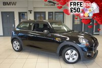 """USED 2015 65 MINI HATCH 1.2 ONE 3d 101 BHP full mini service history  FINISHED IN STUNNING MIDNIGHT BLACK METALLIC WITH CLOTH SEATS + FULL MINI SERVICE HISTORY + DAB RADIO + MINI SERVICE PACK 5 YEARS OR 80K + BLUETOOTH + £20 ROAD TAX + DUAL CLIMATE CONTROL + 15"""" ALLOYS..."""