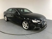 USED 2016 66 AUDI A4 2.0 TFSI S LINE 4d AUTO 188 BHP SERVICE HISTORY - 1 OWNER - SAT NAV - REAR CAMERA - AIR CON - PARKING SENSORS - BLUETOOTH - CRUISE