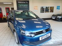 USED 2013 13 VOLKSWAGEN POLO 1.4 BLUEMOTION GT 5d 140 BHP SATELLITE NAVIGATION  + DAB RADIO + ALLOYS + CRUISE CONTROL + AIR CONDITIONING + ELECTRIC WINDOWS + METALLIC PAINT