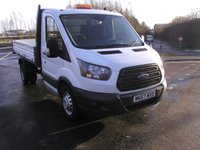 USED 2017 67 FORD TRANSIT 2.0 350  DRW 129 BHP VAN Tipper Air Con, 28000 miles, Service History, 1 Owner