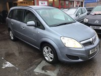 USED 2010 10 VAUXHALL ZAFIRA 1.6 EXCLUSIV 5d 113 BHP Great value 7 seater, must be seen, superb,