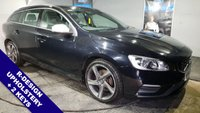USED 2014 14 VOLVO V60 2.4 D5 R-DESIGN NAV 5d AUTO 212 BHP Bluetooth   :   Sat Nav   : DAB Radio   :   Wi-Fi   :   R-Design contrasting leather upholstery   :   R-Design steering wheel