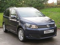 USED 2014 64 VOLKSWAGEN TOURAN 1.6 SE TDI BLUEMOTION TECHNOLOGY 5d 103 BHP FULL SERVICE HISTORY & 1 OWNER