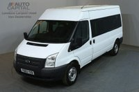 USED 2014 63 FORD TRANSIT 2.2 350 14 SEATER 134 BHP LWB M/ROOF MANUAL MINIBUS ONE OWNER FULL S/H SPARE KEY