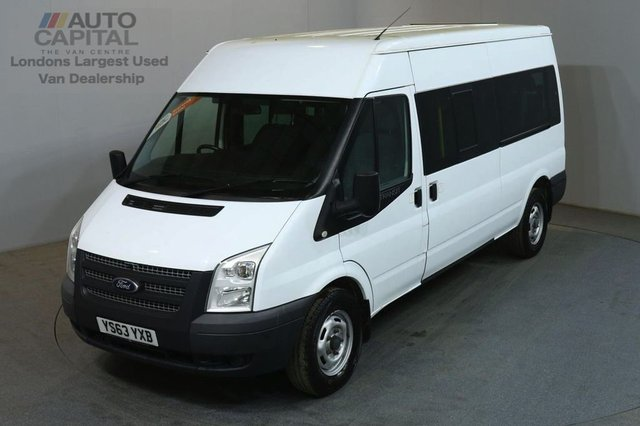 2014 63 FORD TRANSIT 2.2 350 14 SEATER 134 BHP LWB M/ROOF MANUAL MINIBUS ONE OWNER FULL S/H SPARE KEY