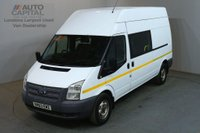 USED 2013 63 FORD TRANSIT 2.2 350 124 BHP LWB H/ROOF L3H3 9 SEATER COMBI CREW VAN ONE OWNER FULL S/H SPARE KEY