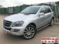 USED 2010 60 MERCEDES-BENZ M CLASS 3.0 ML300 CDI BLUEEFFICIENCY GRAND EDITION 5d AUTO 204 BHP SAT NAV LEATHER PRIVACY FSH 4WD. SATELLITE NAVIGATION. STUNNING SILVER MET WITH FULL BLACK LEATHER TRIM. ELECTRIC HEATED SEATS. CRUISE CONTROL. SIDE STEPS. 20 INCH ALLOYS. COLOUR CODED TRIMS. PRIVACY GLASS. PARKING SENSORS. REVERSING CAMERA. BLUETOOTH PREP. DUAL CLIMATE CONTROL INCLUDING AIR CON. ELECTRIC TAILGATE. R/CD PLAYER. MFSW. MOT 10/19. FULL SERVICE HISTORY. PRESTIGE SUV CENTRE - LS24 8EJ. TEL 01937 849492 OPTION 1