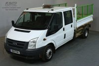 USED 2011 11 FORD TRANSIT 2.4 350 100 BHP LWB D/CAB 6 SEATER COMBI TWIN WHEEL TIPPER  REAR BED LENGTH 9 FOOT 2 INCH