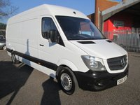 2015 MERCEDES-BENZ SPRINTER 313 CDi LWB High roof 4 metre load length *BLUETOOTH + CRUISE* £12495.00