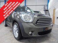 "USED 2013 13 MINI COUNTRYMAN 1.6 COOPER D ALL4 5d 112 BHP Full Service History, 4x4, Rear Parking Sensors, Bluetooth Hands Free Phone, DAB Radio, Half Leather Trim, Auto Lights and Wipers, Cruise Control, Sports Button, 17"" Alloys"