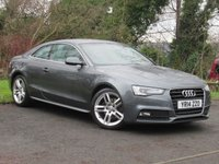 USED 2014 14 AUDI A5 2.0 TDI S LINE S/S 2d AUTO  **AUTOMATIC DIESEL COUPE**