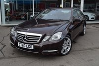 2010 MERCEDES-BENZ E CLASS 2.1 E200 CDI BLUEEFFICIENCY AVANTGARDE 4d AUTO 136 BHP £8490.00