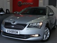 USED 2016 16 SKODA SUPERB ESTATE 2.0 TDI SE BUSINESS 5d 150 S/S 1 OWNER FROM NEW, FULL SERVICE HISTORY, £20 ROAD TAX (109 G/KM), UPGRADE 17 INCH STRATOS ALLOY WHEELS, SAT NAV, LEATHER ALCANTARA UPHOLSTERY, FRONT & REAR PARKING SENSORS WITH DISPLAY (PARK PILOT), DAB RADIO, BLUETOOTH PHONE & MUSIC STREAMING, ADAPTIVE CRUISE CONTROL WITH FRONT ASSIST, AUTO HILL HOLD, AUX & USB INPUTS, LIGHT & RAIN SENSORS, ELECTRIC HEATED FOLDING DOOR MIRRORS, ELECTRIC DRIVER SEAT WITH MEMORY, LEATHER MULTIFUNCTION STEERING WHEEL, DUAL CLIMATE AIR CON, SMARTLINK READY