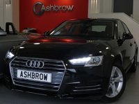 USED 2016 66 AUDI A4 1.4 TFSI SPORT 4d 150 S/S NEW SHAPE, SAT NAV, AUDI SMART PHONE WITH APPLE CAR PLAY & ANDROID AUTO, AUDI CONNECT, DAB RADIO, CRUISE CONTROL W/ SPEED LIMITER, LED DAYTIME RUNNING LIGHTS, BLUETOOTH PHONE & MUSIC STREAMING, FRONT & REAR PARKING SENSORS W/ DISPLAY, 17 IN ALLOYS, SPORT SEATS, LEATHER MULTIFUNCTION STEERING WHEEL, LIGHT & RAIN SENSORS, AUDI DRIVE SELECT, FRONT & REAR ARM RESTS, KEYLESS START, WIRELESS LAN (WLAN), 2x USB PORTS, CD W/ 2x SD CARD READERS & SIM CARD READER, TYRE PRESSURE MONITORING,1 OWNER, VAT Q
