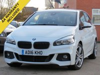 2016 BMW 2 SERIES 2.0 218D M SPORT ACTIVE TOURER 5d AUTO 148 BHP £13900.00