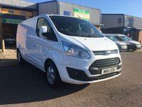 2016 FORD TRANSIT CUSTOM 2.2 290 LIMITED LR P/V 1d 124 BHP £12850.00