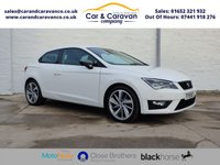 USED 2015 15 SEAT LEON 2.0 TDI FR TECHNOLOGY 3d 150 BHP One Owner Full Dealer History Buy Now, Pay Later Finance!