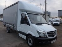 USED 2015 15 MERCEDES-BENZ SPRINTER 313 CDI LWB 16FT CURTAIN SIDE, 130 BHP [EURO 5]