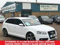2012 AUDI A3 2.0 SPORTBACK TDI S LINE BLACK EDITION 5d 138 BHP £30 a year road tax  £8695.00
