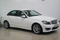 2013 MERCEDES-BENZ C CLASS 2.1 C220 CDI BLUEEFFICIENCY AMG SPORT 4d AUTO 168 BHP £8850.00