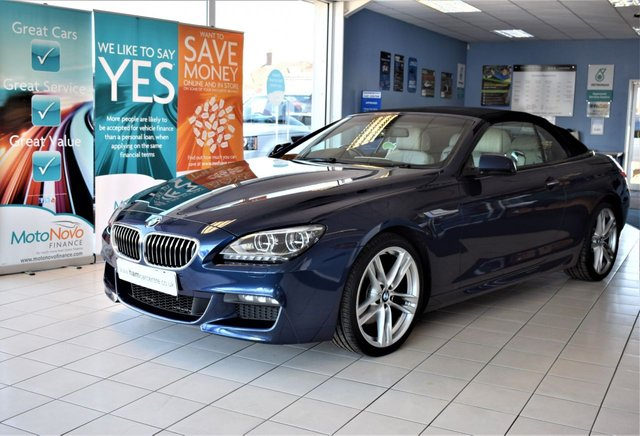 2013 13 BMW 6 SERIES 3.0 640D M SPORT 2d Auto CONVERTIBLE 309 BHP STOP/START EURO 5