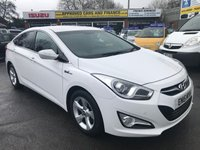 2015 HYUNDAI I40 1.7 CRDI STYLE BLUE DRIVE 4 DOOR 114 BHP IN WHITE WITH SAT NAV AND 83000 MILES £6999.00
