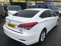 USED 2015 15 HYUNDAI I40 1.7 CRDI STYLE BLUE DRIVE 4 DOOR 114 BHP IN WHITE WITH SAT NAV AND 83000 MILES APPROVED CARS ARE PLEASED TO OFFER THIS HYUNDAI I40 1.7 CRDI STYLE BLUE DRIVE 4 DOOR 114 BHP IN WHITE WITH SAT NAV,6 SPEED GEARBOX,AIR CON,ALLOYS,BLUETOOTH,CRUISE CONTROL,DAB RADIO,REAR CAMERA AND MUCH MORE WITH A FULL SERVICE HISTORY SERVICED AT 22K,56K AND 80K A GREAT LOOKING / DRIVING HYUNDAI AND AMAZING VALUE.