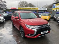 2016 MITSUBISHI OUTLANDER 2.0 PHEV GX 4H 5 DOOR AUTO 161 BHP 4X4 HYBRID IN METALLIC RED WITH ONLY 74000 MILES. £16799.00