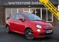 USED 2014 64 FIAT 500 1.2 S 3d 69 BHP 1.2 SPORT, FACELIFT MODEL, 37000 MILES, £30 YEAR TAX, AIR COND, BLUETOOTH, SPORT BODYSTYLING.