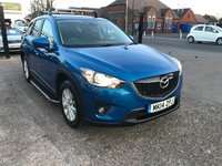 USED 2014 14 MAZDA CX-5 2.2 D SE-L NAV 5d 148 BHP MAIN DEALER SERVICE HISTORY-SAT NAV-BLUETOOTH-1 FORMER KEEPER-SIDESTEPS-£30 PER YEAR ROAD TAX