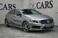 USED 2013 13 MERCEDES-BENZ A CLASS 1.8 A200 CDI BLUEEFFICIENCY AMG SPORT 5d 136 BHP Black Leather / Alcantara Heated Seats, Command Satellite Navigation + Bluetooth Connectivity + DAB Radio, 18 Inch 5 Split Spoke AMG Alloy Wheels, Leather Multi Function Steering Wheel, Heated Electric Powerfold Mirrors with Gloss Black Mirror Caps, Automatic Headlights + Power Wash, Cruise Control, Climate Control, On-board Computer, Privacy Glass