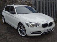 2012 BMW 1 SERIES 2.0 118D SPORT 5d 141 BHP £8299.00