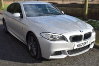 USED 2012 12 BMW 5 SERIES 3.0 535D M SPORT 4d AUTO 309 BHP SERVICE HISTORY, HEATED SPORTS LEATHER, SATELLITE NAVIGATION, BLUETOOTH, REAR PRIVACY GLASS