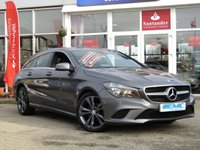 USED 2015 65 MERCEDES-BENZ CLA 2.1 CLA 220 D SPORT 5d AUTO 174 BHP STUNNING, £20 ROAD TAX, 1 OWNER, MERCEDES CLA 220D 2.1 SHOOTING BRAKE, SPORT, AUTO, 174 BHP. Finished in MOUNTAIN GREY metallic with contrasting PART LEATHER trim. This a good looking alternative to the boxy estate car. Very attractive, well-made and striking looks. Features include, Sat Nav, £20 road Tax, B/Tooth, DAB, Park sensors and much more.